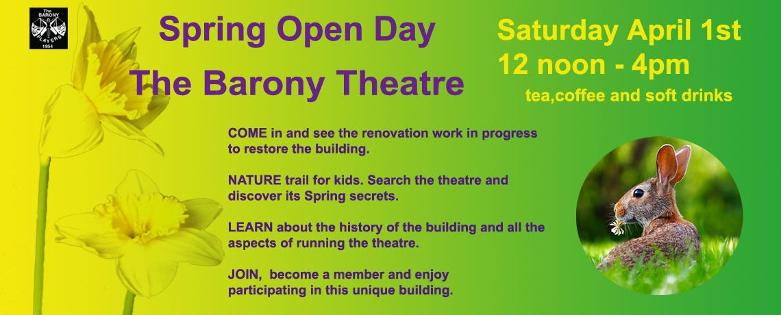 Spring Open Day at The Barony Theatre