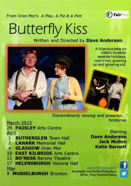 A butterfly kiss