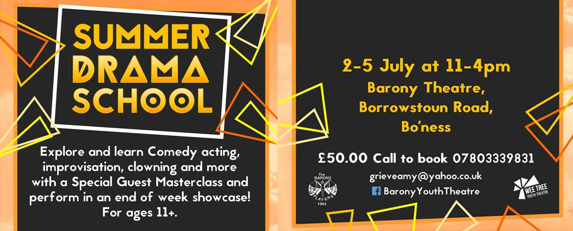 Youth Summer Drama School – 2nd – 5th July 2018