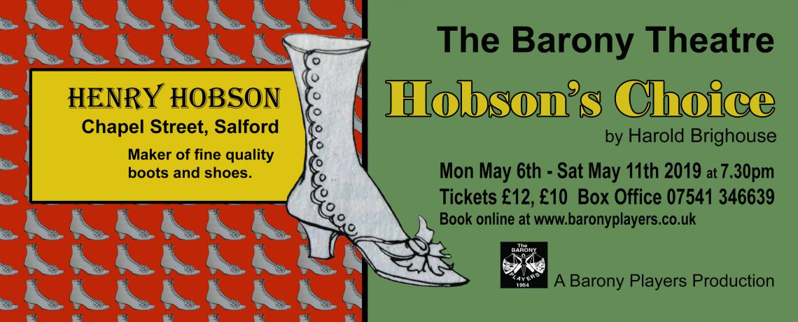 Spring 2019 production – Hobson's Choice