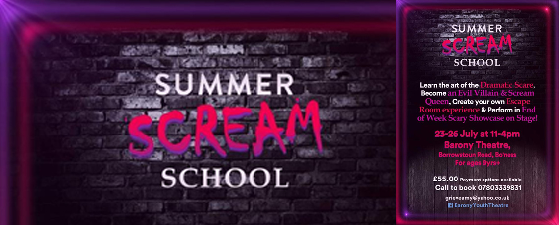 Youth Theatre Summer School – 23rd-26th July